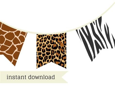 free printable jungle birthday banner safari banner jungle banner magical printable