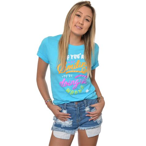 If Shirt wassabi if you re not smiling t shirt turquoise