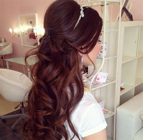 Wedding And Quinceanera Hairstyles by Half Up Half Wedding Hairstyles Hair Curls
