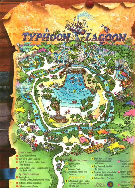 typhoon lagoon map typhoon lagoon florida water parks