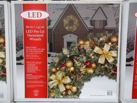 60 inch lighted outdoor christmas wreath 60 inch led prelit decorated wreath