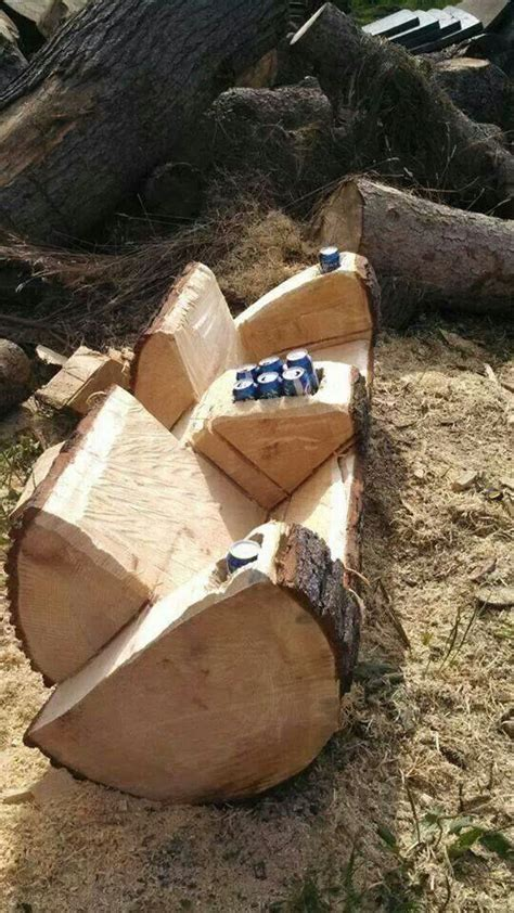 how to make benches out of logs best 25 log furniture ideas on pinterest log projects