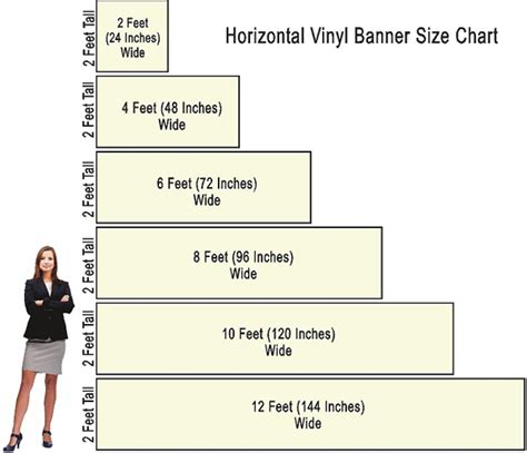banner template size 2 foot wide by various heights and widths vinyl banners
