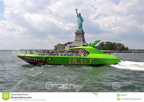 the dream boat new york times nyc statue of liberty and tour boat editorial photo