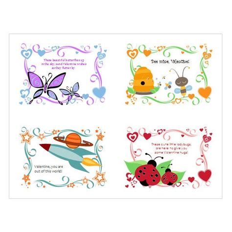 5 Free Valentine S Day Templates And Designs From Microsoft Office Card Templates For Children