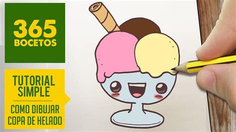 imagenes de helados kawaii como dibujar un copa de helado kawaii paso a paso
