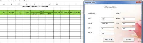 membuat form input di excel 2013 membuat aplikasi form sederhana di ms excel 2013