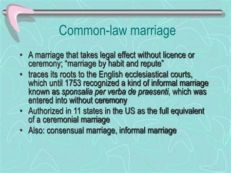 Common law marriage laws in north carolina