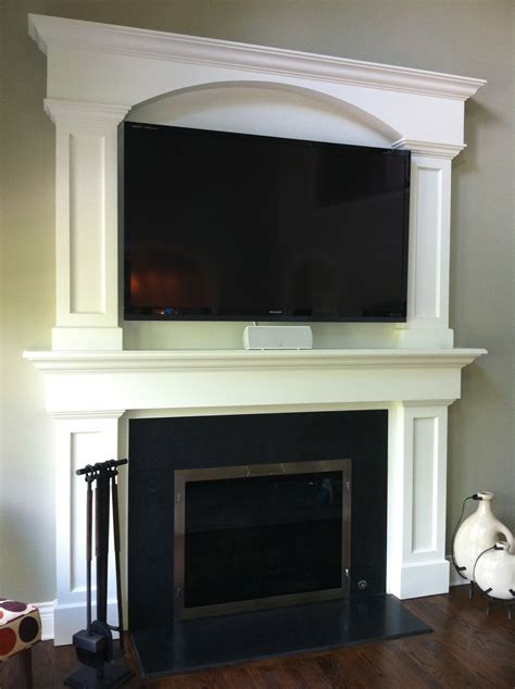 Fireplace Mantel Ideas With Tv by Custom Fireplace Surround Tv Above Fireplace Granite