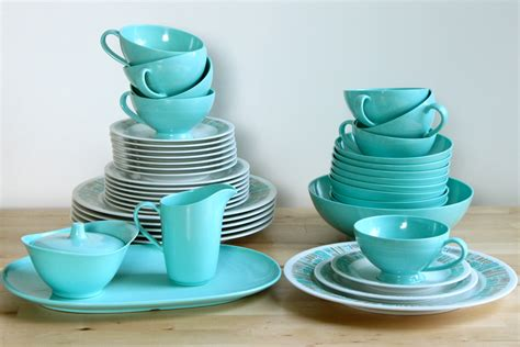 melmac dishes aqua ware melmac dishes atomic by kitchenculinaria on etsy