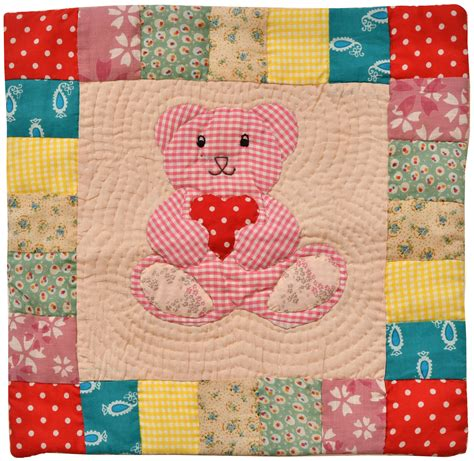 Patchwork Teddy - multicolor printed patchwork teddy cushion cover from