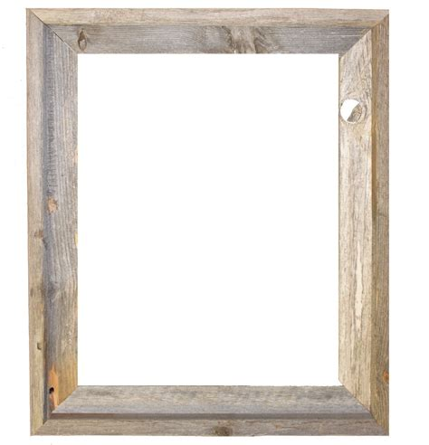 Wood Frame by 16x20 2 Wide Barnwood Reclaimed Wood Open Frame No