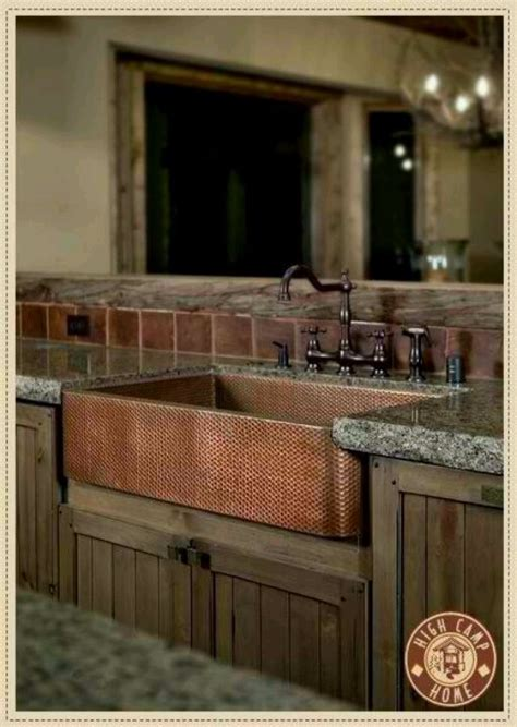 Kitchen Sink Rustic Copper Kitchen Sink Kitchen Pinterest Rustic Kitchen Sinks
