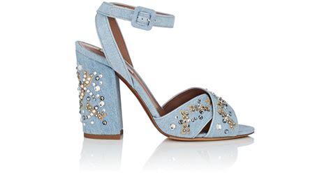 Wedges Korean Rajut Light Blue 1 lyst simmons connie embellished denim sandals in blue save 5