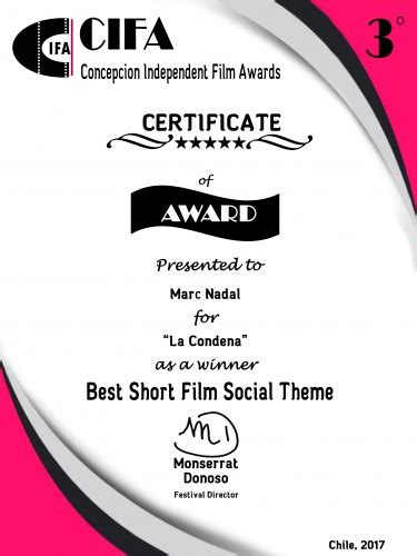 social themes in film marc nadal 187 la condena premio mejor cortometraje social
