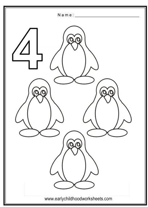 Number 4 Coloring Pages Preschool by Number 4 Worksheets For Preschool Number 4 Worksheets