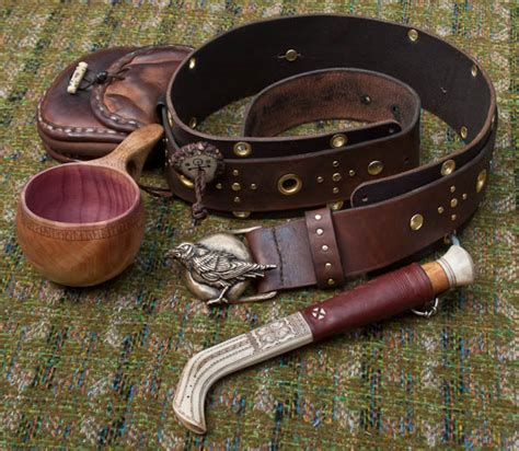 saami inspired belt and equipment http www ravenlore