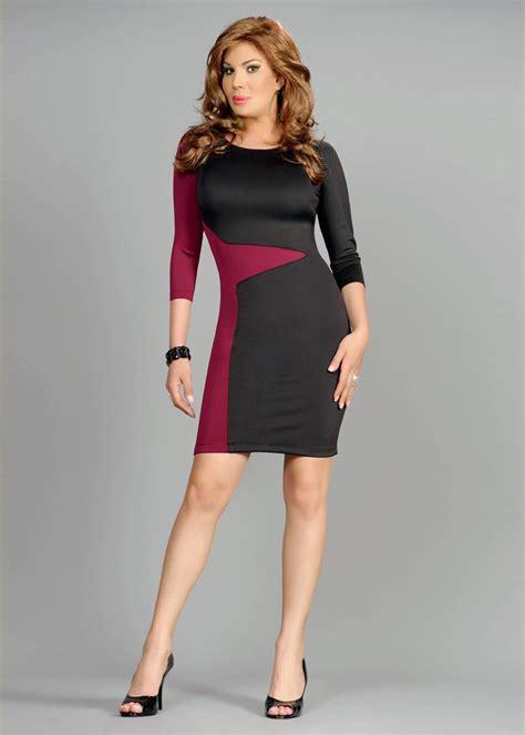 little black dress crossdresser slimming color block bodycon dress sexy belt and colors