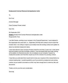 Contract Renewal Letter To Employee Letter Of Employment Contract