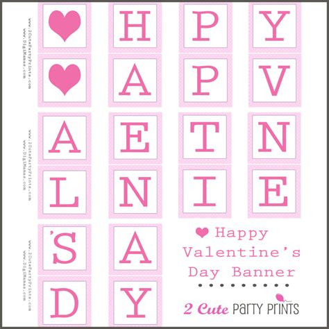 happy valentines day printable 8 best images of happy s day banner printable