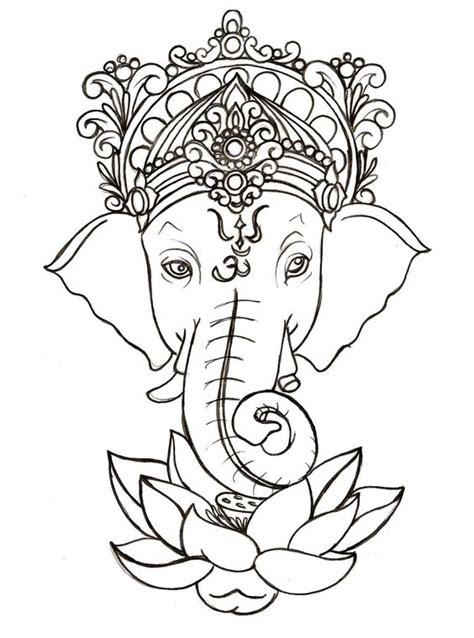ganesh tattoo deviantart tatuaje de loto colorante and ganesha on pinterest