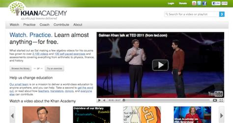 khan tutorial website the khan academy a new approach to online learning
