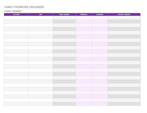 39 Best Password List Templates Word Excel Pdf ᐅ Template Lab Password Template Excel