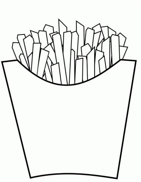 fast food coloring pages 2