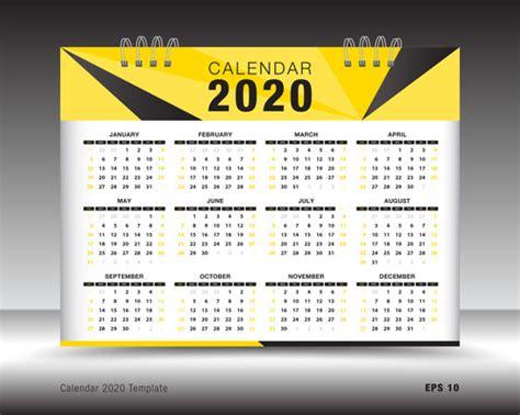 calendar template layout design vector