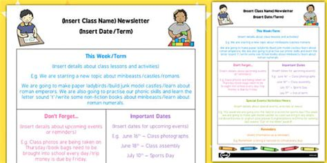 Eyfs Editable Newsletter Template Eyfs Editable Newsletter Letter To Template Eyfs