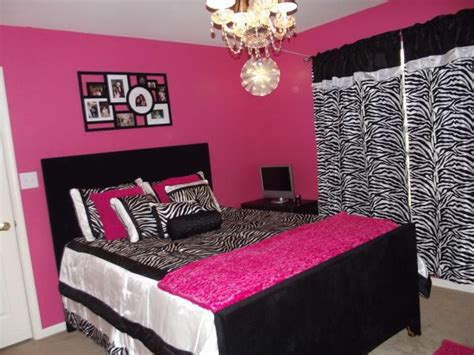 zebra and hot pink 11 year old girl teen girls bedroom