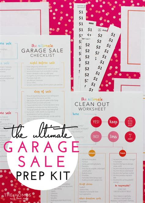 Free Printable Garage Sale Price Tags by The Ultimate Garage Sale Prep Kit A Free Printable