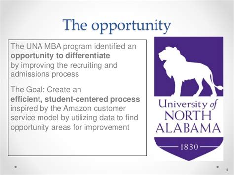 Una Mba Program lean in he improving mba student recruiting process4