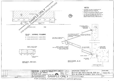 Awning Plans by Carbolite Engineering Frame Plans