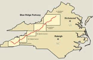map of blue ridge blue ridge parkway