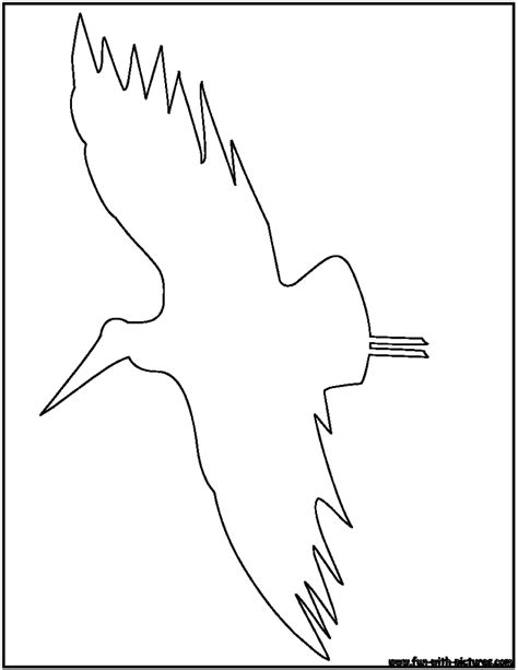 Bird Outline Page Coloring Pages Outline Pictures For Coloring