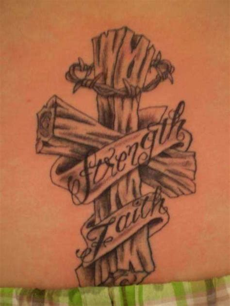 barbed wire cross tattoo wooden banner barbed wire cross
