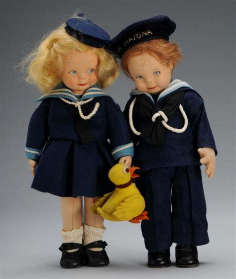 what is a lenci doll pair of felt lenci dolls