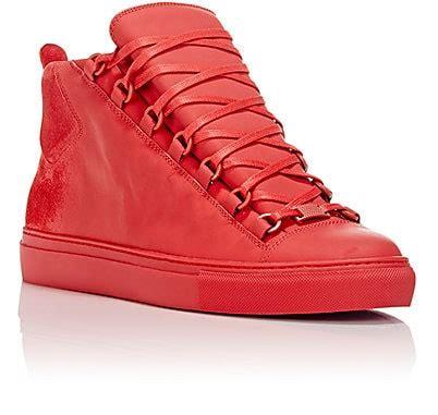 high top sneakers for balenciaga sprayed suede arena high top sneakers barneys