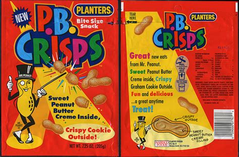 Planters P B Crisps New Snack Package Bag 1992 Planters Pb Crisps