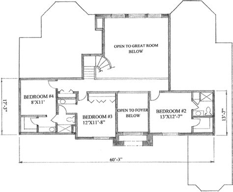 4000 sq ft floor plans traditional style house plan 4 beds 3 5 baths 4000 sq ft plan 136 104