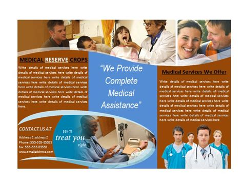 Medical Office Brochures Medical Brochure Template Marketing Ideas Pinterest Medical Assistant Brochure Templates