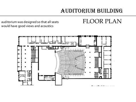 auditorium floor plan architecture google louis sullivan