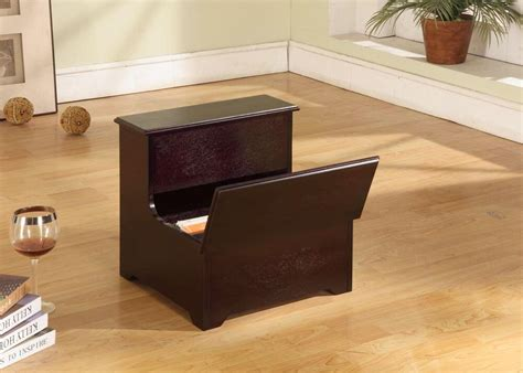 Cherry Wood Bed Step Stool by Brand Cherry Finish Wood Bed Bedroom Step Stool With