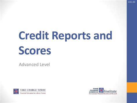 credit reports and scores ppt 2 6 1 g1