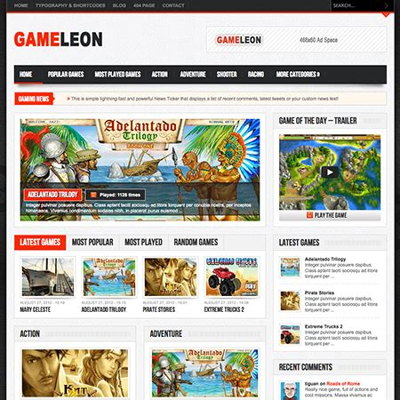 free wordpress themes video games imperial game review wordpress theme