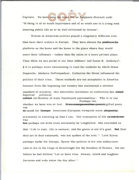 Jfk Courage Essay by Speech Draft On Writing Re Profiles In Courage F Kennedy Presidential Library Museum