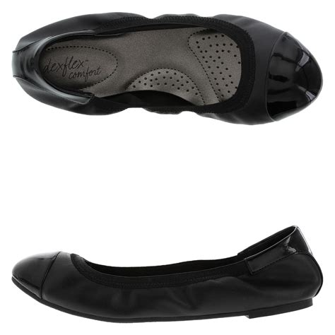 payless shoes black flats dexflex comfort s scrunch flat shoe payless