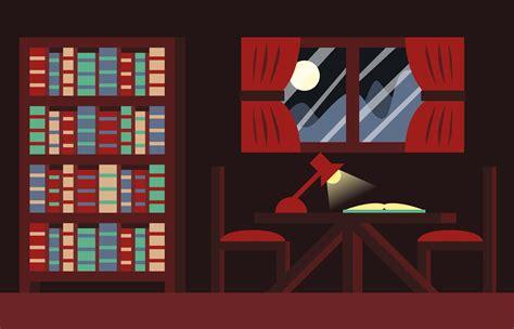 libro books room background illustration vector