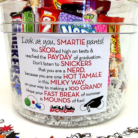 cheap graduation gifts graduation candy bar poem gift bucket payday candy